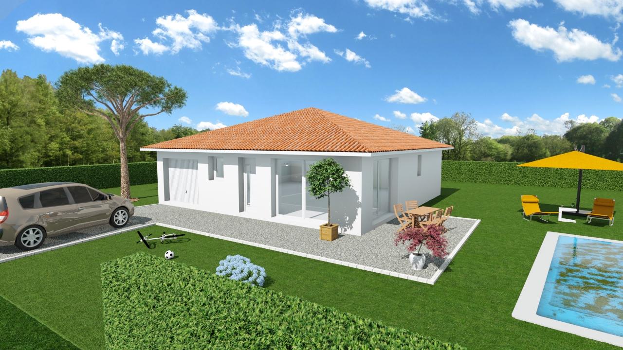 Maisons + Terrains du constructeur LES DEMEURES DE LA COTE D'ARGENT • 76 m² • PARENTIS EN BORN