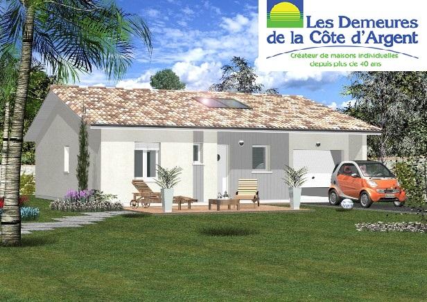 Maisons + Terrains du constructeur LES DEMEURES DE LA COTE D'ARGENT • 90 m² • PARENTIS EN BORN