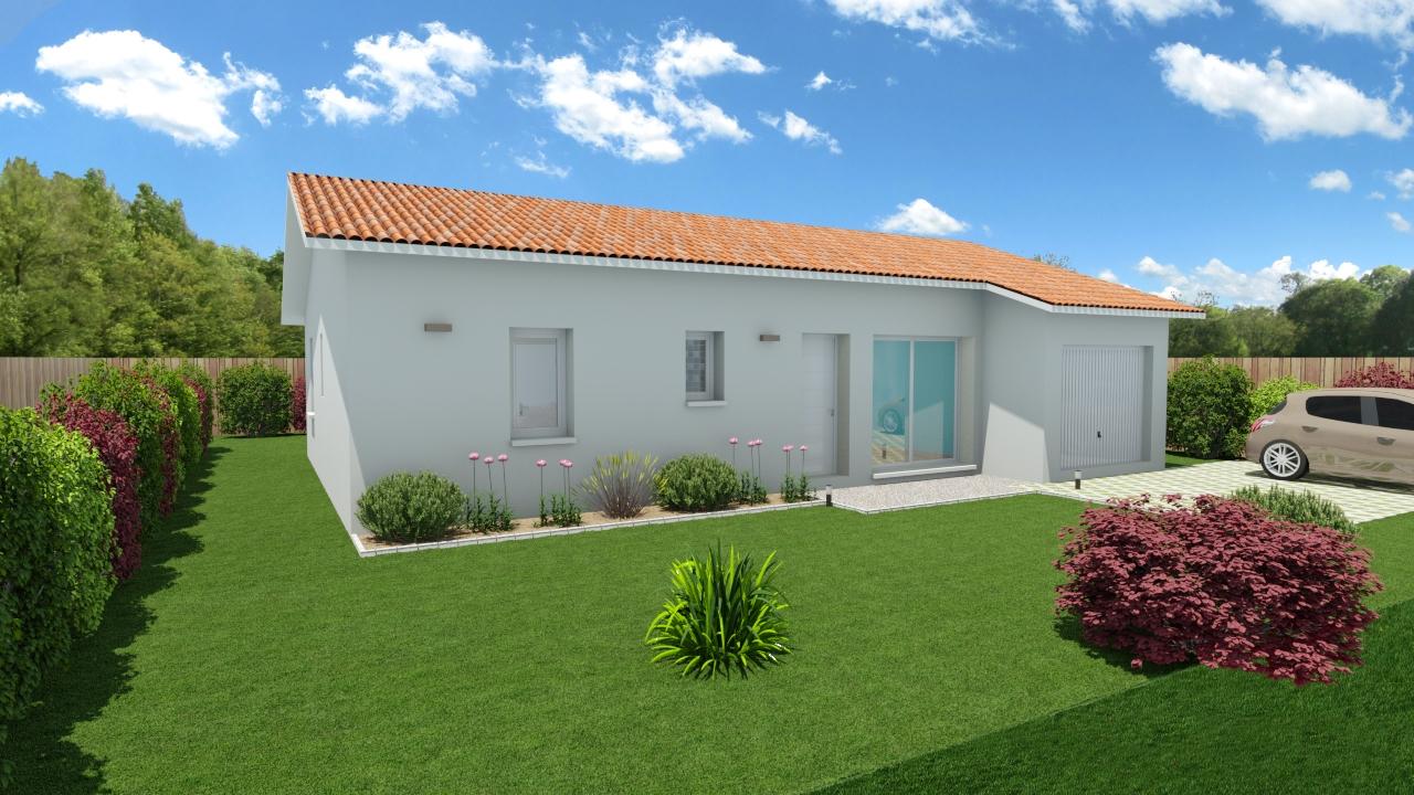 Maisons + Terrains du constructeur LES DEMEURES DE LA COTE D'ARGENT • 94 m² • SOLFERINO