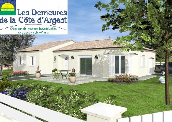 Maisons + Terrains du constructeur LES DEMEURES DE LA COTE D'ARGENT • 100 m² • SOLFERINO