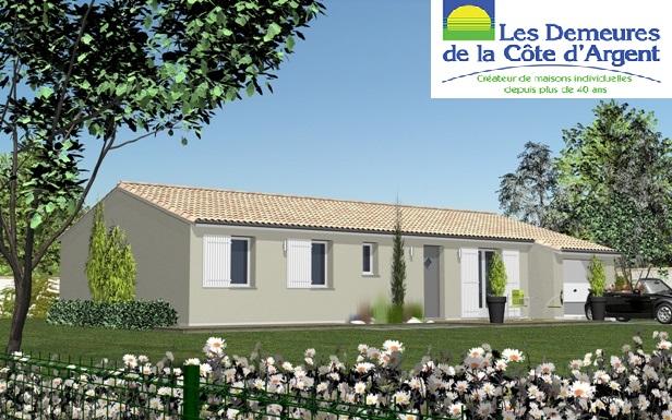Maisons + Terrains du constructeur LES DEMEURES DE LA COTE D'ARGENT • 94 m² • LIPOSTHEY