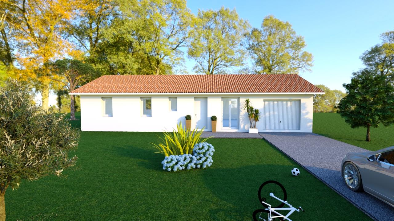 Maisons + Terrains du constructeur LES DEMEURES DE LA COTE D'ARGENT • 94 m² • PARENTIS EN BORN
