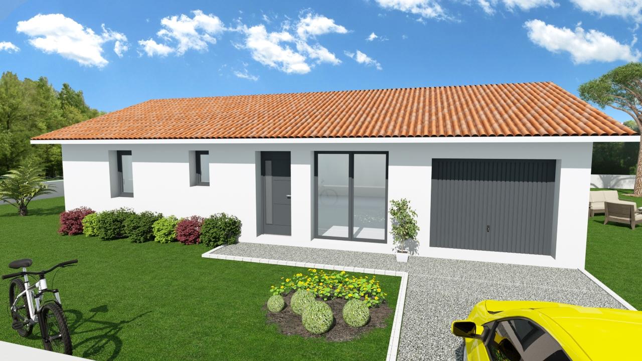 Maisons + Terrains du constructeur LES DEMEURES DE LA COTE D'ARGENT • 83 m² • MIMIZAN