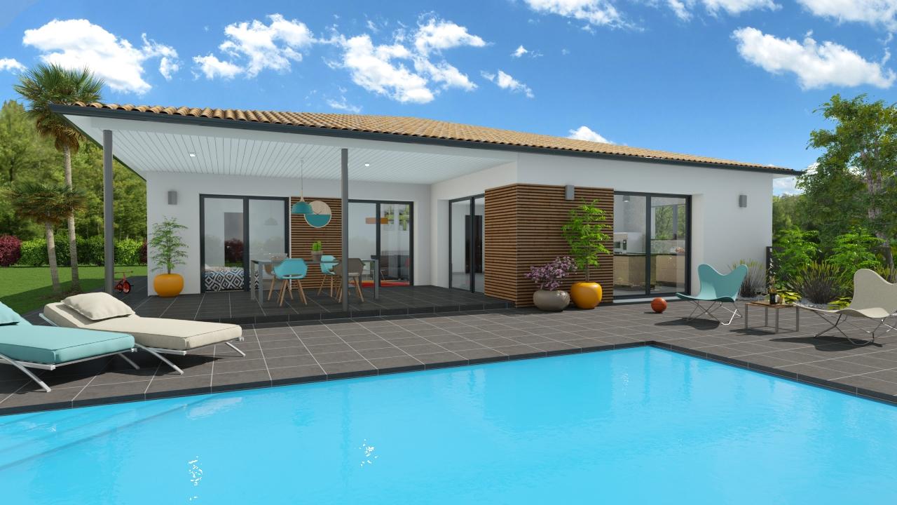 Maisons + Terrains du constructeur LES DEMEURES DE LA COTE D'ARGENT • 107 m² • SOLFERINO