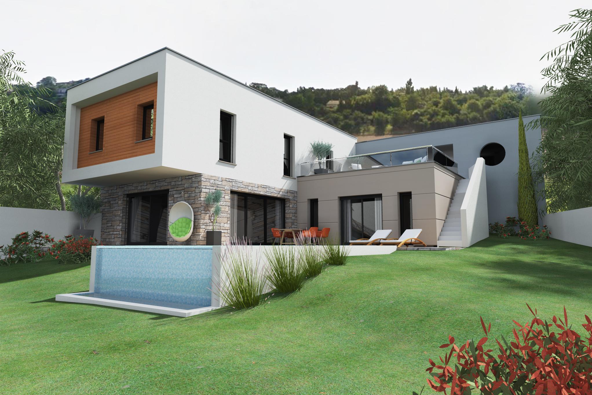 Maisons du constructeur MAISON DU DAUPHINE • 180 m² • ETOILE SUR RHONE