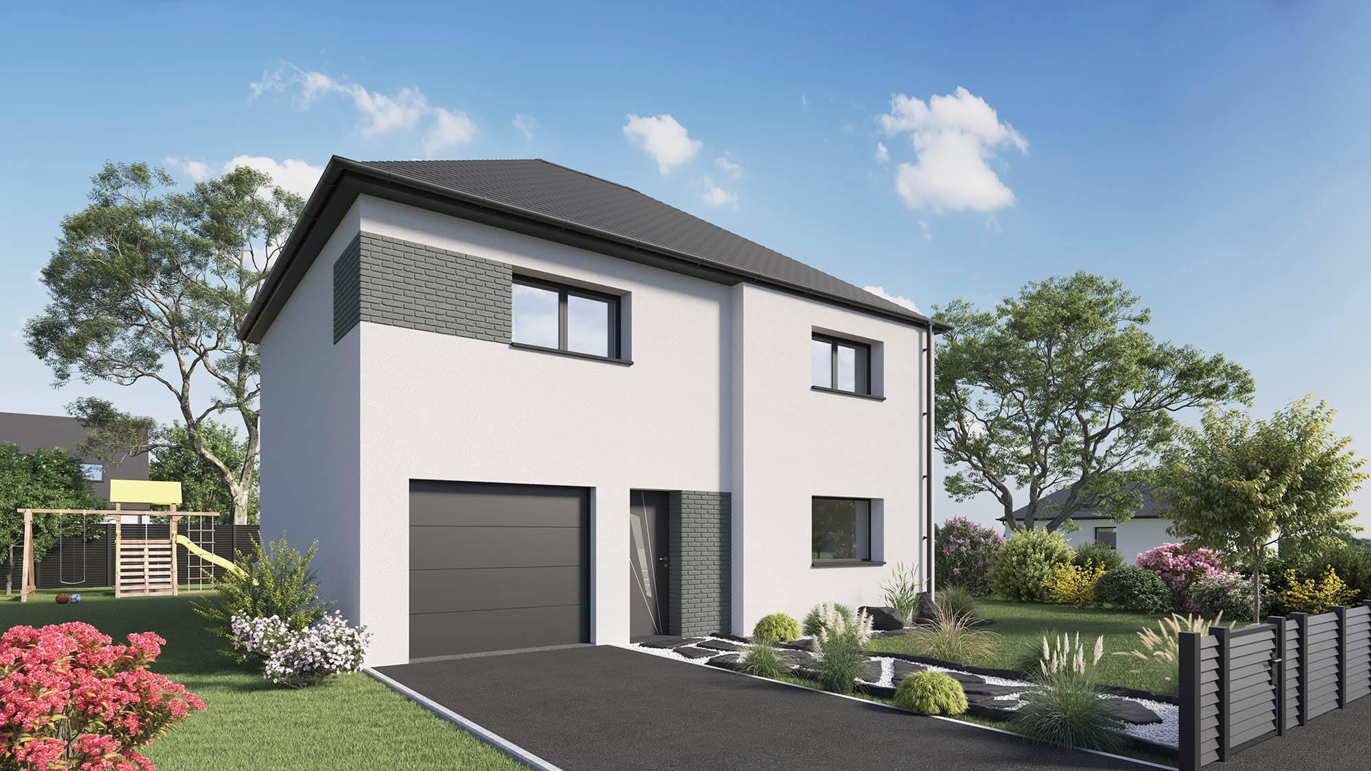 Maisons + Terrains du constructeur MAISON CASTOR • 116 m² • SAINT ANDRE DE L'EURE