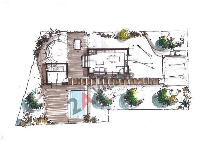 Maisons du constructeur 2A VILLAS • 90 m² • COMBAILLAUX