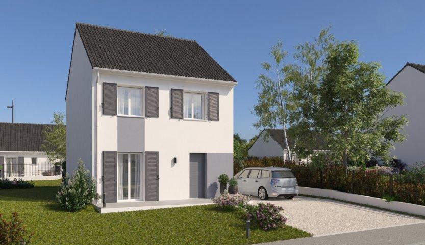 Maisons du constructeur HABITAT PAR COEUR • 88 m² • CROISSY BEAUBOURG