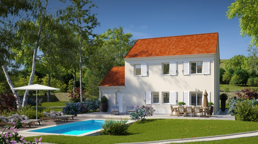 Maisons du constructeur HABITAT PAR COEUR • 110 m² • LA FERTE SOUS JOUARRE