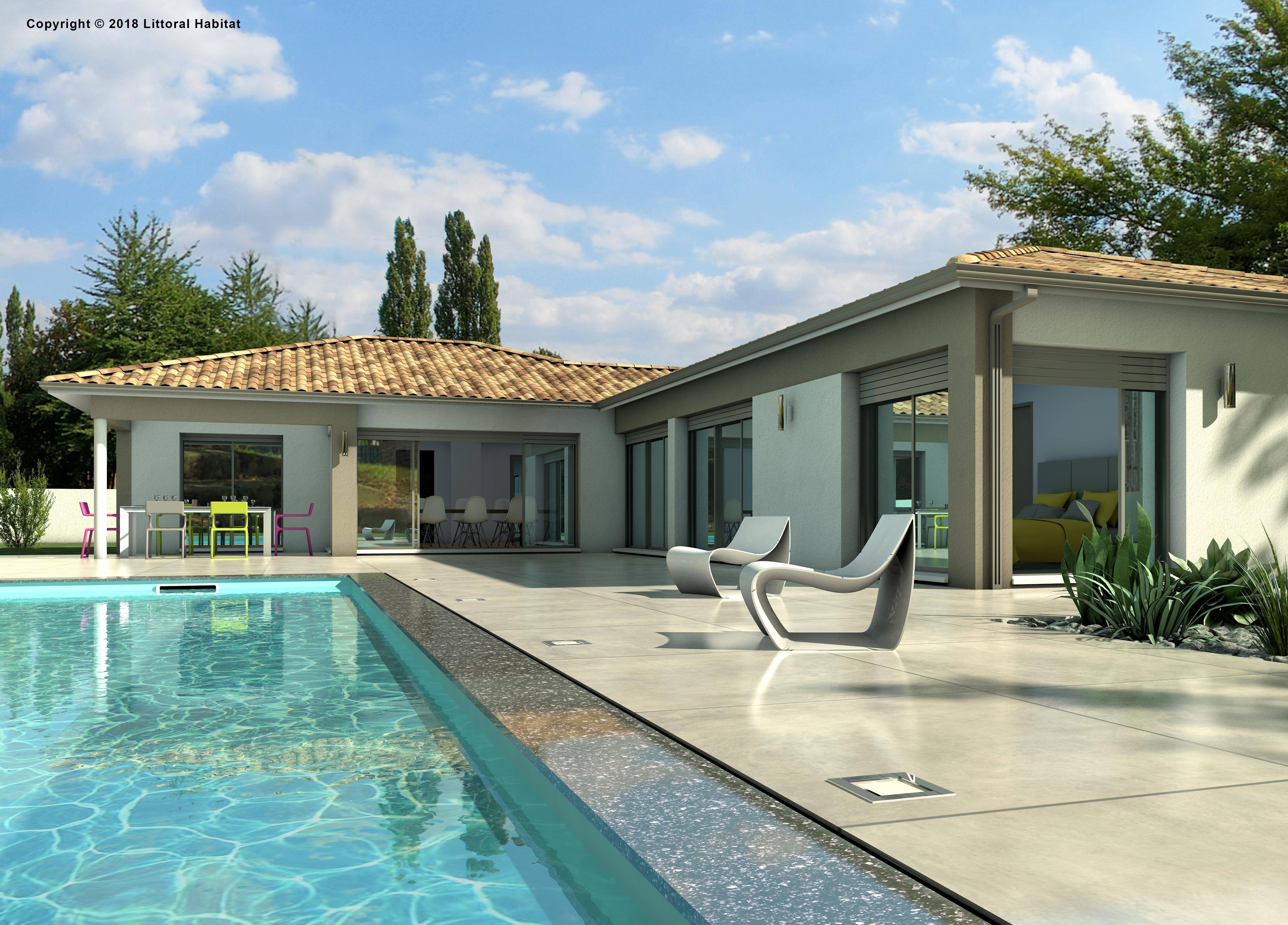 Maisons + Terrains du constructeur LITTORAL HABITAT DAX • 115 m² • HERM