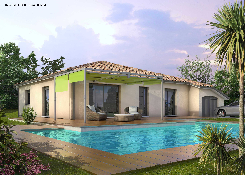 Maisons + Terrains du constructeur LITTORAL HABITAT DAX • 90 m² • AZUR