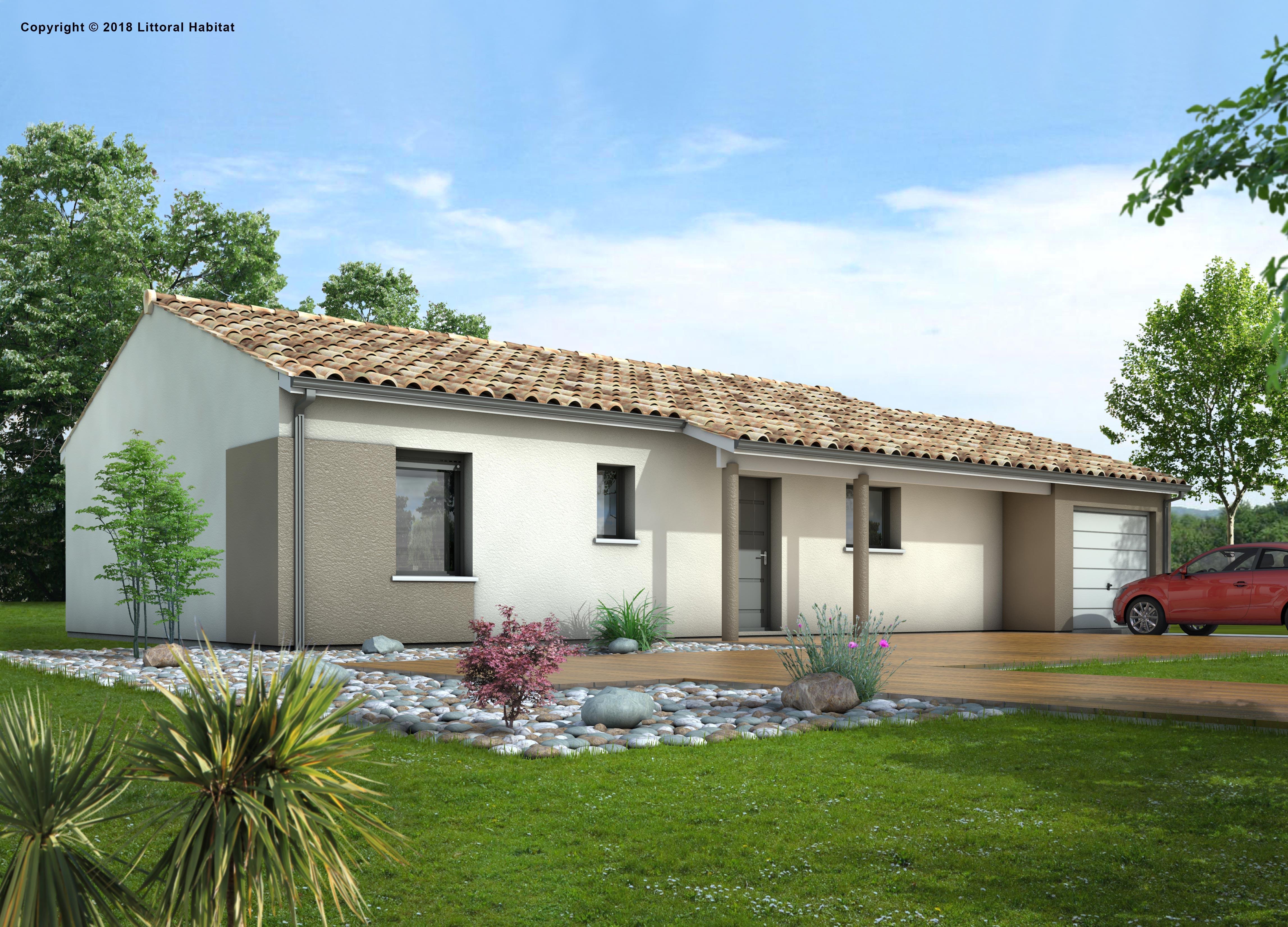 Maisons + Terrains du constructeur LITTORAL HABITAT DAX • 80 m² • LINXE