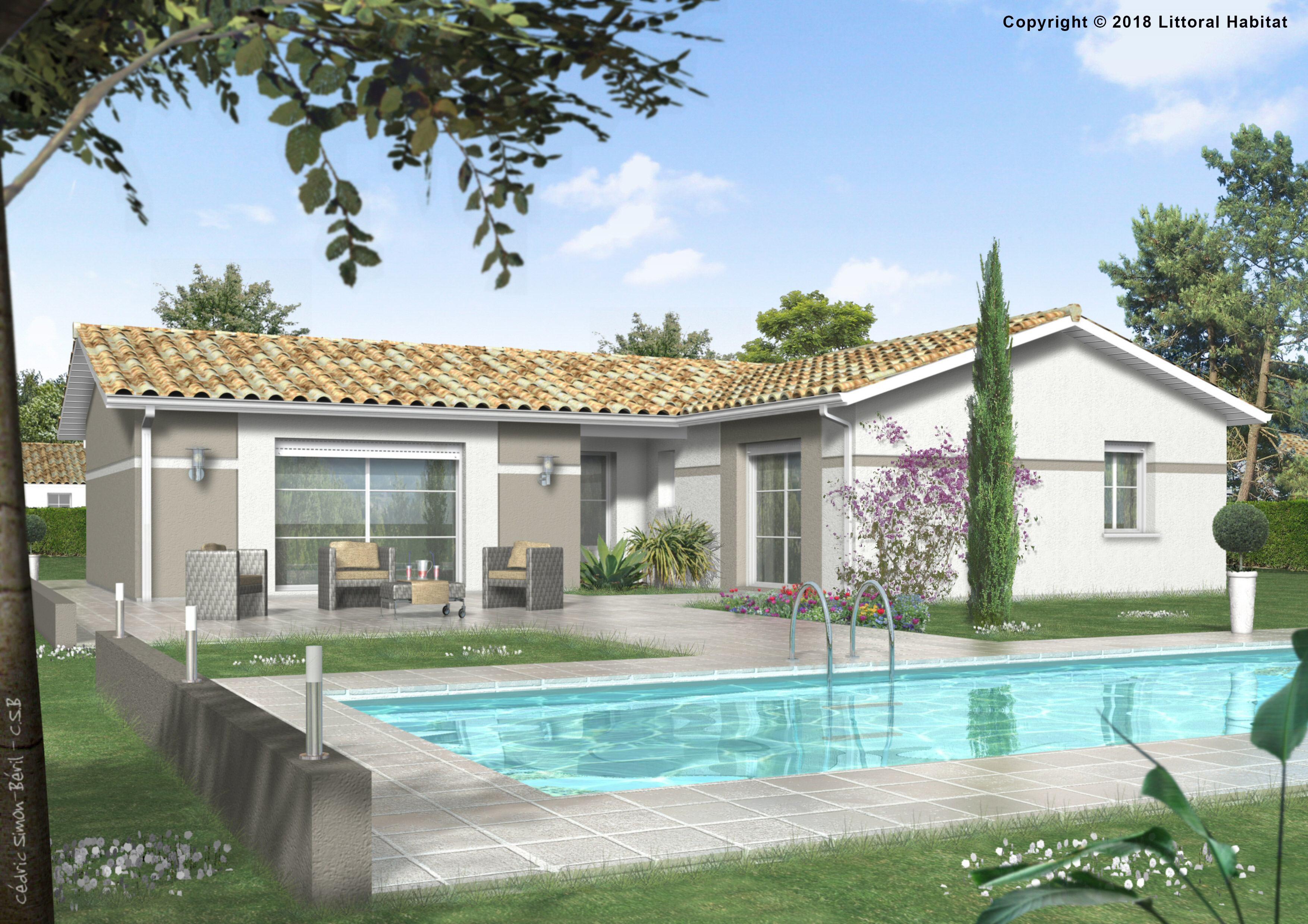 Maisons + Terrains du constructeur LITTORAL HABITAT DAX • 86 m² • LEON