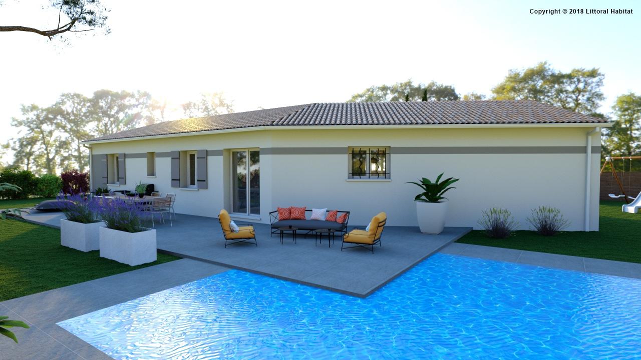 Maisons + Terrains du constructeur LITTORAL HABITAT DAX • 87 m² • SOUPROSSE