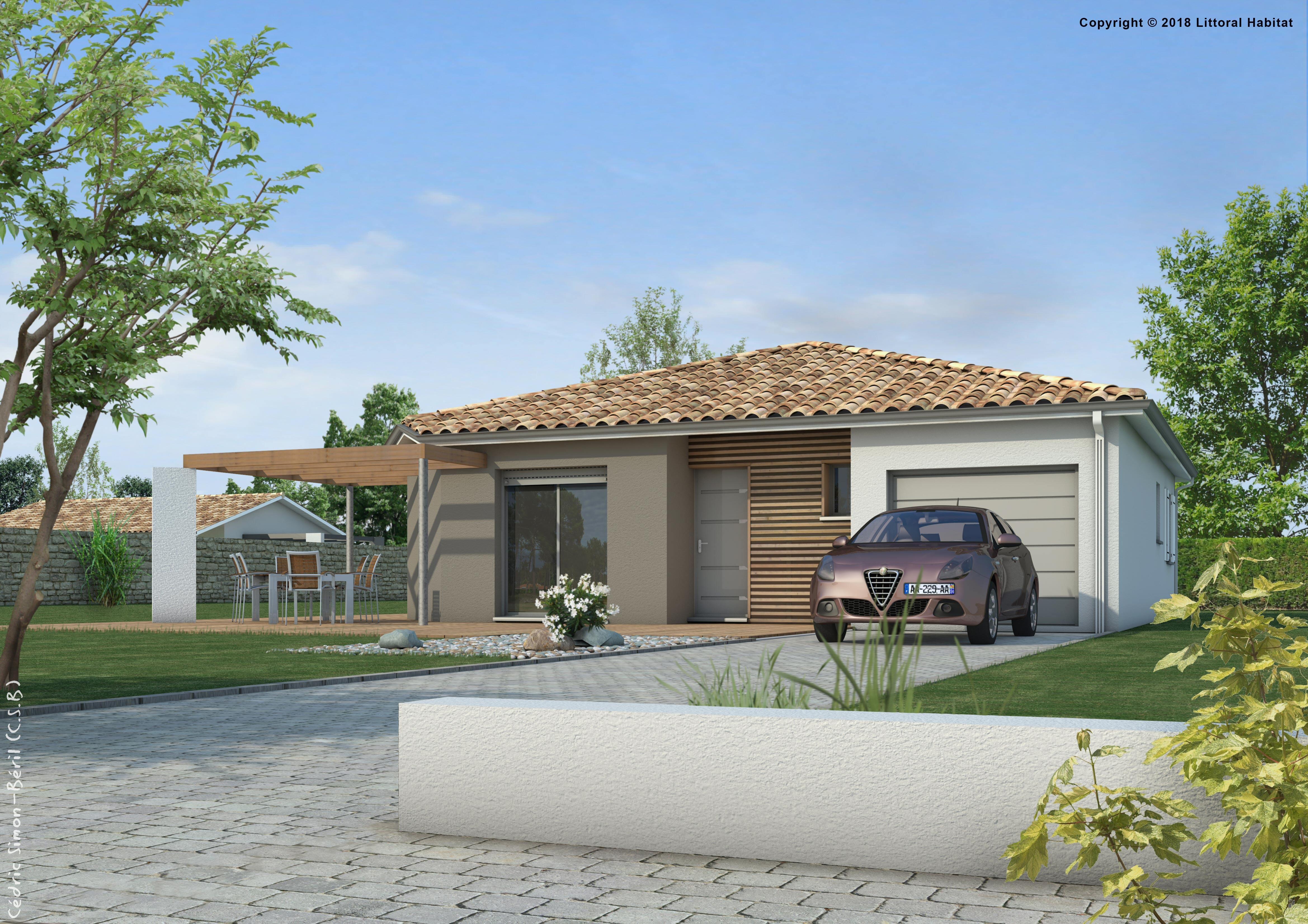 Maisons + Terrains du constructeur LITTORAL HABITAT DAX • 80 m² • RION DES LANDES