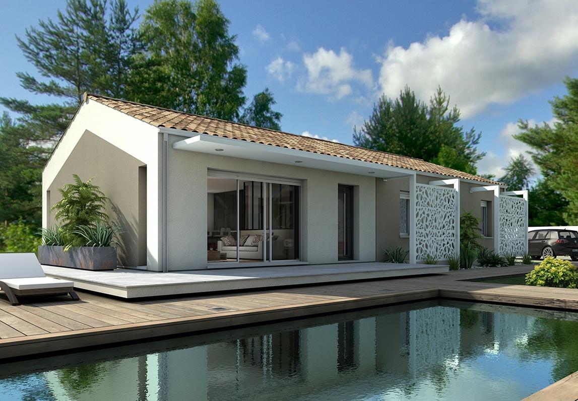 Maisons + Terrains du constructeur LITTORAL HABITAT DAX • 95 m² • MEILHAN