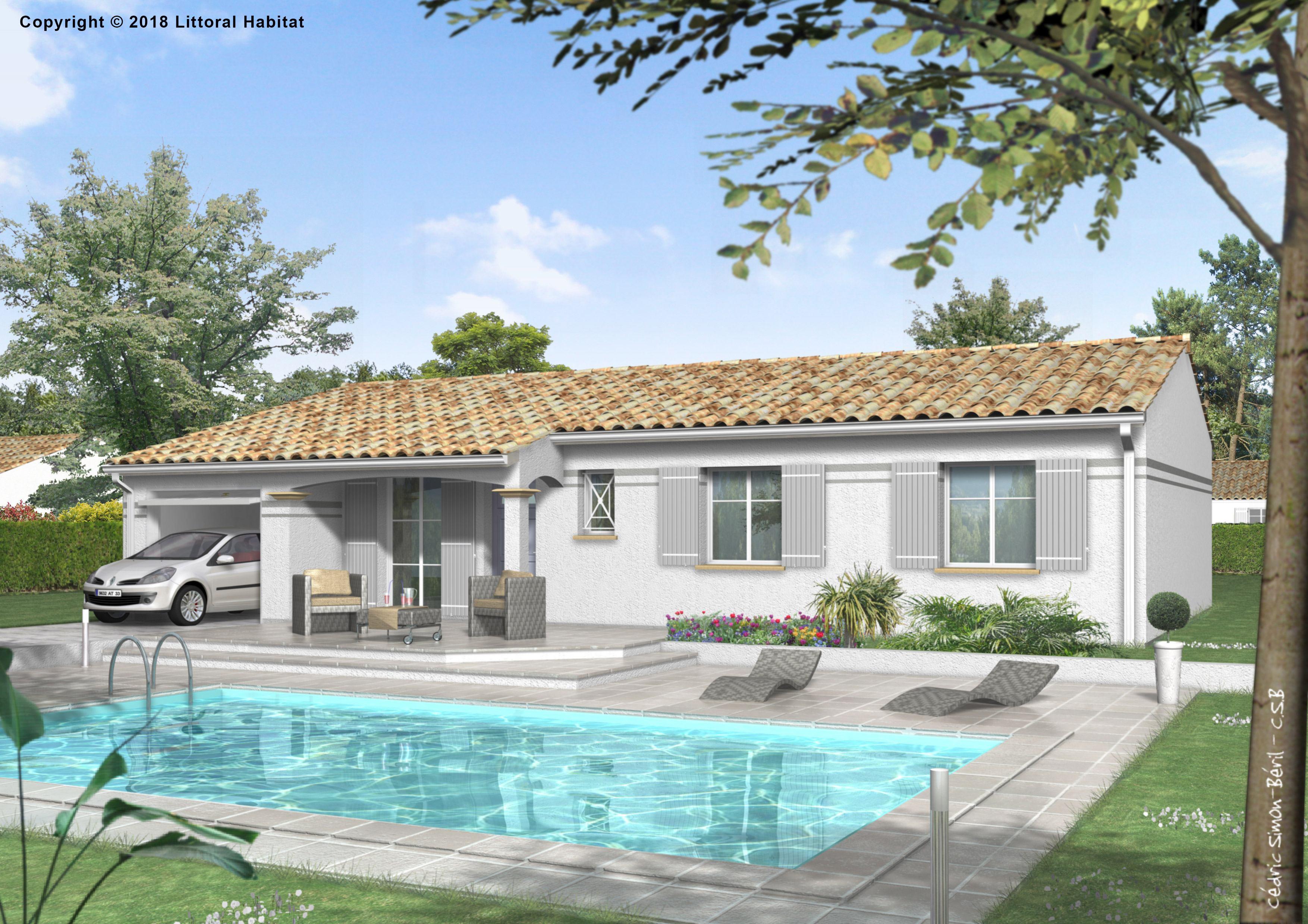 Maisons + Terrains du constructeur LITTORAL HABITAT DAX • 81 m² • POUILLON