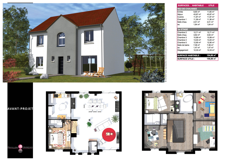 Maisons + Terrains du constructeur LE PAVILLON FRANCAIS • 137 m² • CHILLY MAZARIN