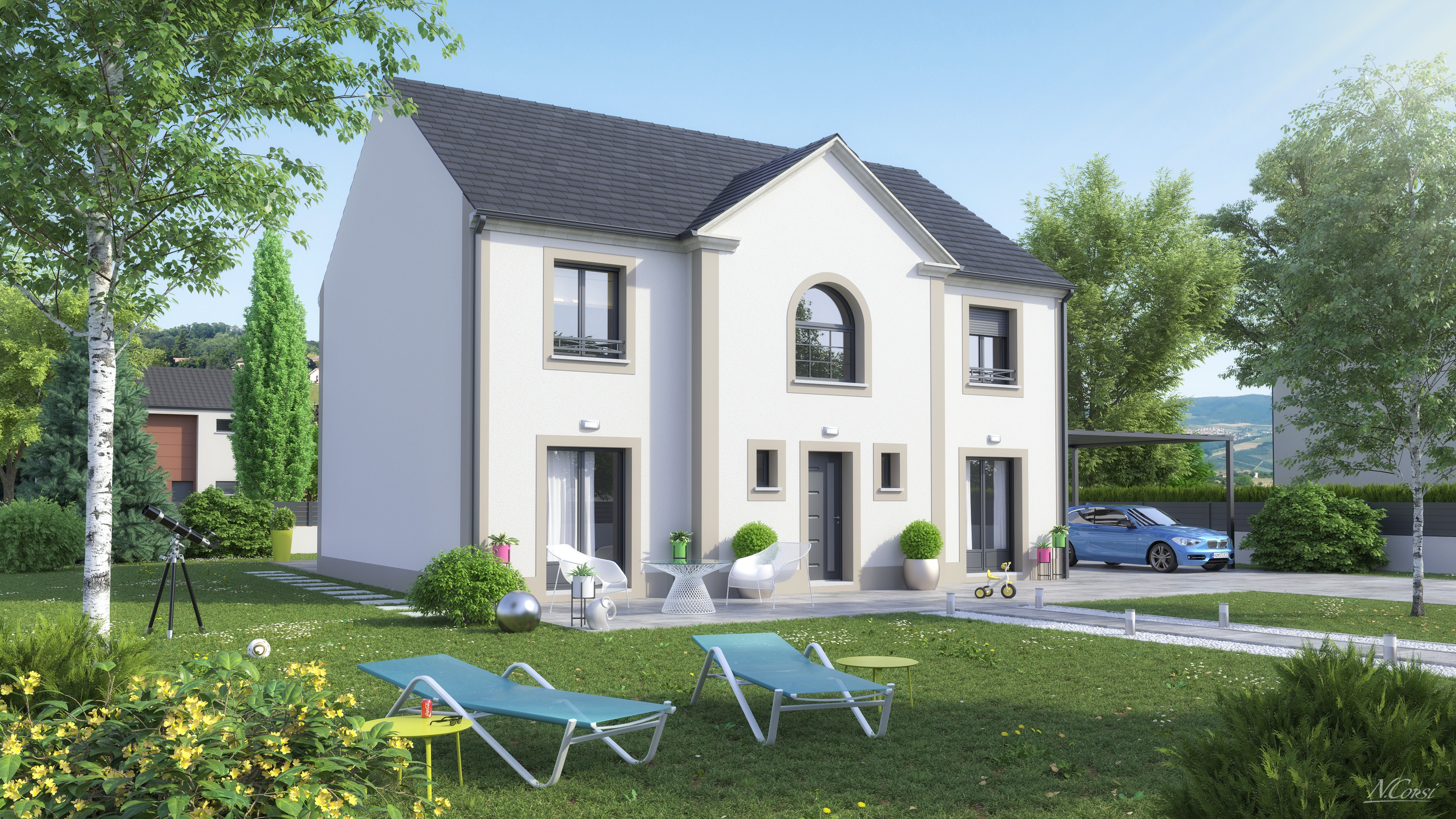 Maisons + Terrains du constructeur LE PAVILLON FRANCAIS • 138 m² • NOZAY