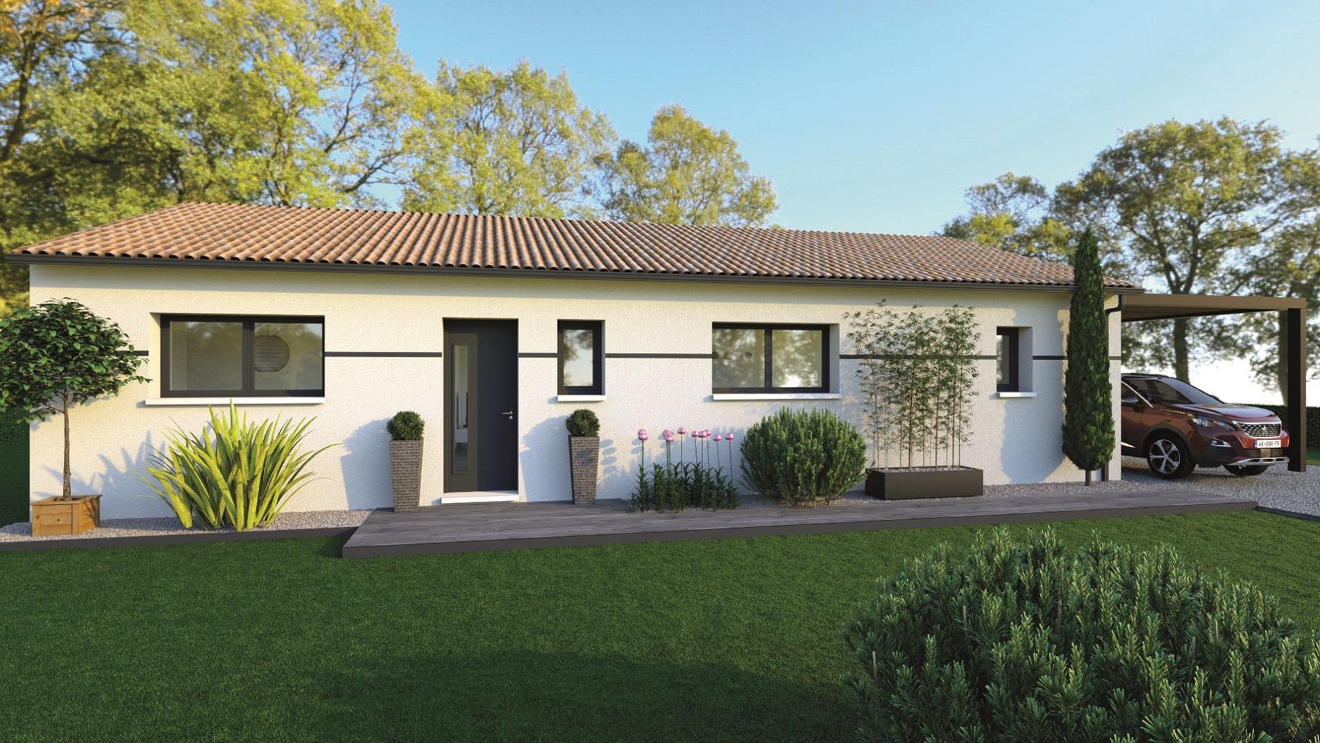 Maisons du constructeur DEMEURES DE LA COTE D ARGENT • 90 m² • BRANNE