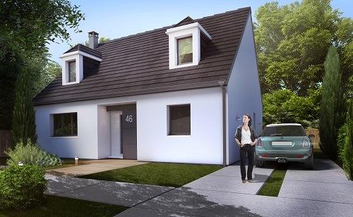 Maisons + Terrains du constructeur LES MAISONS.COM LA VILLE DU BOIS • 110 m² • COURSON MONTELOUP