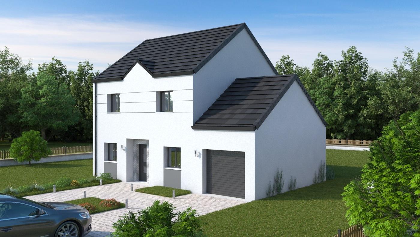 Maisons + Terrains du constructeur LES MAISONS.COM LA VILLE DU BOIS • 103 m² • DOURDAN