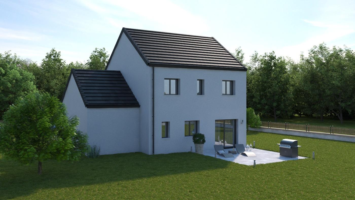 Maisons + Terrains du constructeur LES MAISONS.COM LA VILLE DU BOIS • 103 m² • ROINVILLE