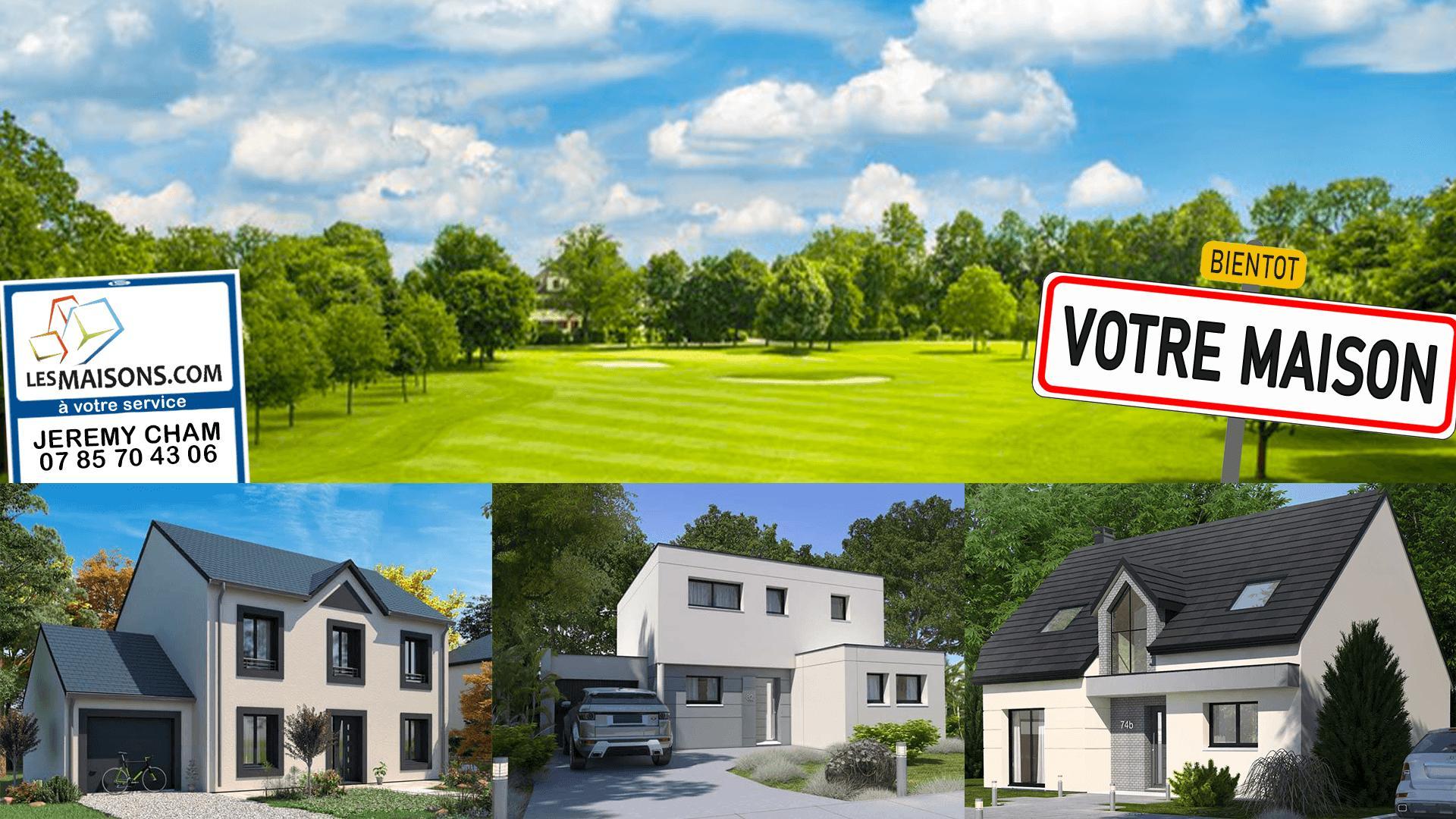 Maisons + Terrains du constructeur LES MAISONS.COM LA VILLE DU BOIS • 123 m² • ROINVILLE