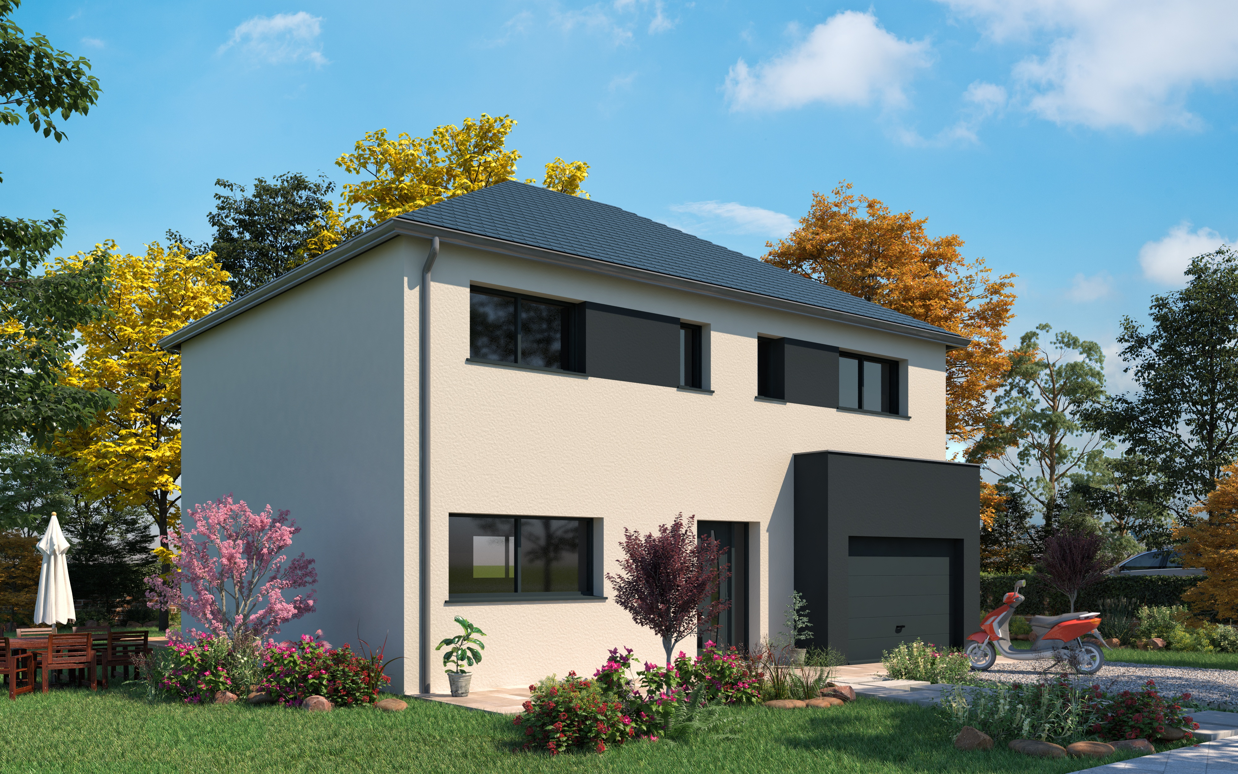 Maisons + Terrains du constructeur LES MAISONS.COM LA VILLE DU BOIS • 129 m² • MAISSE