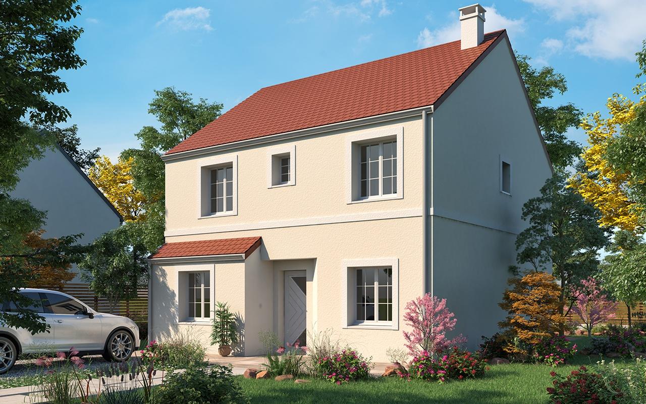 Maisons + Terrains du constructeur LES MAISONS.COM LA VILLE DU BOIS • 118 m² • MAISSE