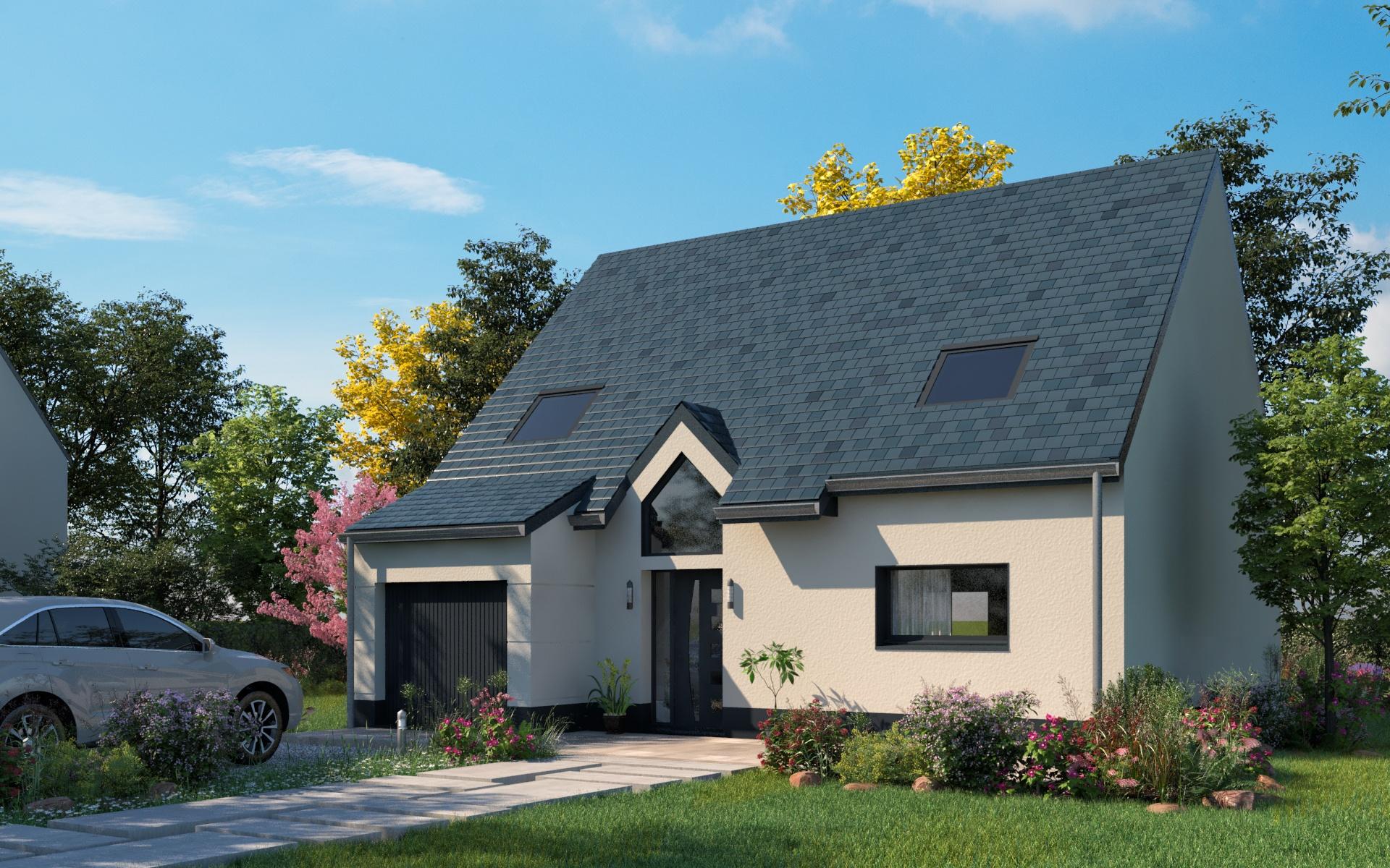 Maisons + Terrains du constructeur LES MAISONS.COM LA VILLE DU BOIS • 114 m² • MARCOUSSIS