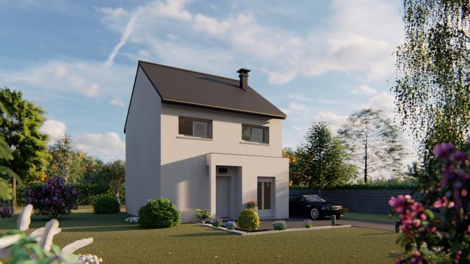 Maisons + Terrains du constructeur MAISONS EXTRACO • 88 m² • FONTAINE LE BOURG