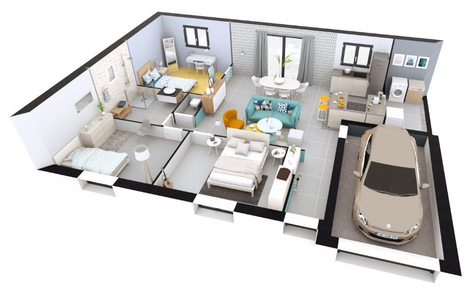 Maisons + Terrains du constructeur MAISONS EXTRACO • 74 m² • RY