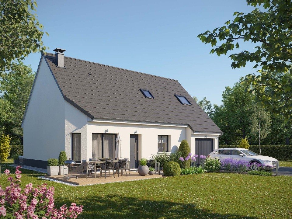 Maisons + Terrains du constructeur MAISONS EXTRACO • 105 m² • RY