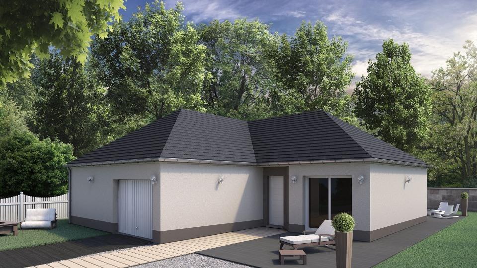 Maisons + Terrains du constructeur MAISONS EXTRACO • 97 m² • ROCQUEMONT
