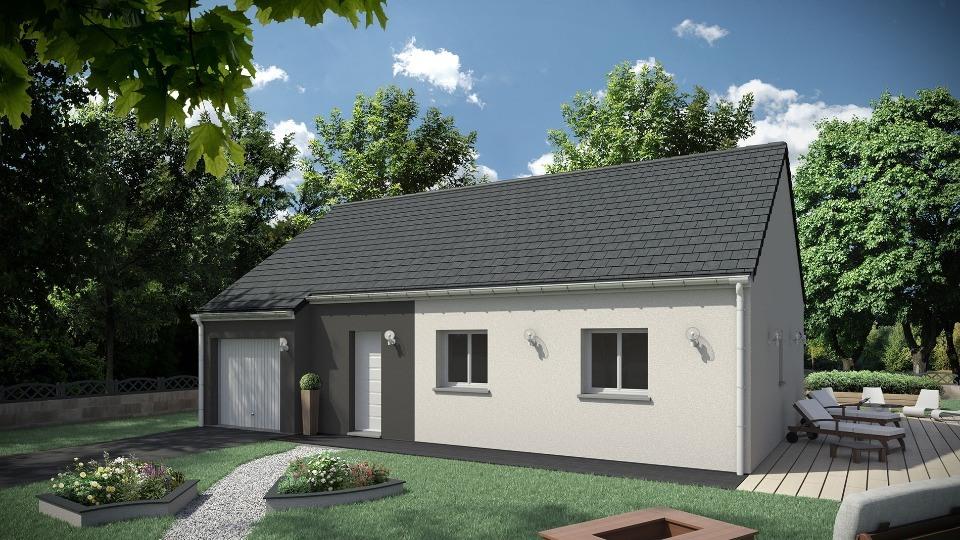 Maisons + Terrains du constructeur MAISONS EXTRACO • 80 m² • FONTAINE LE BOURG