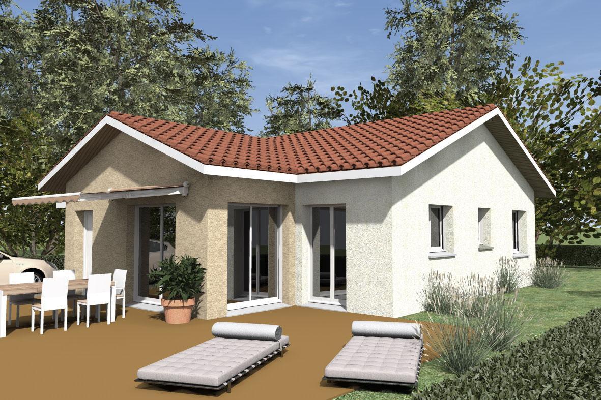Maisons du constructeur CREAVILLA 69 • 71 m² • VERNAISON