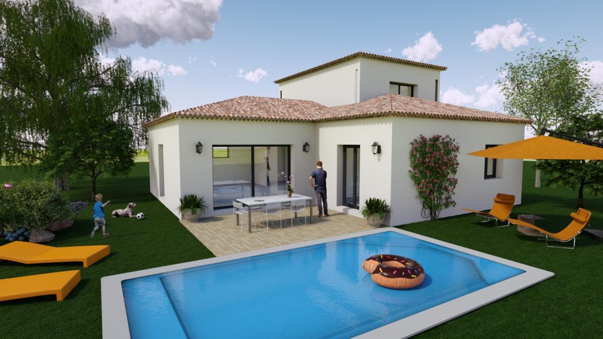 Maisons du constructeur TRADICONFORT 13 • 91 m² • LE CASTELLET