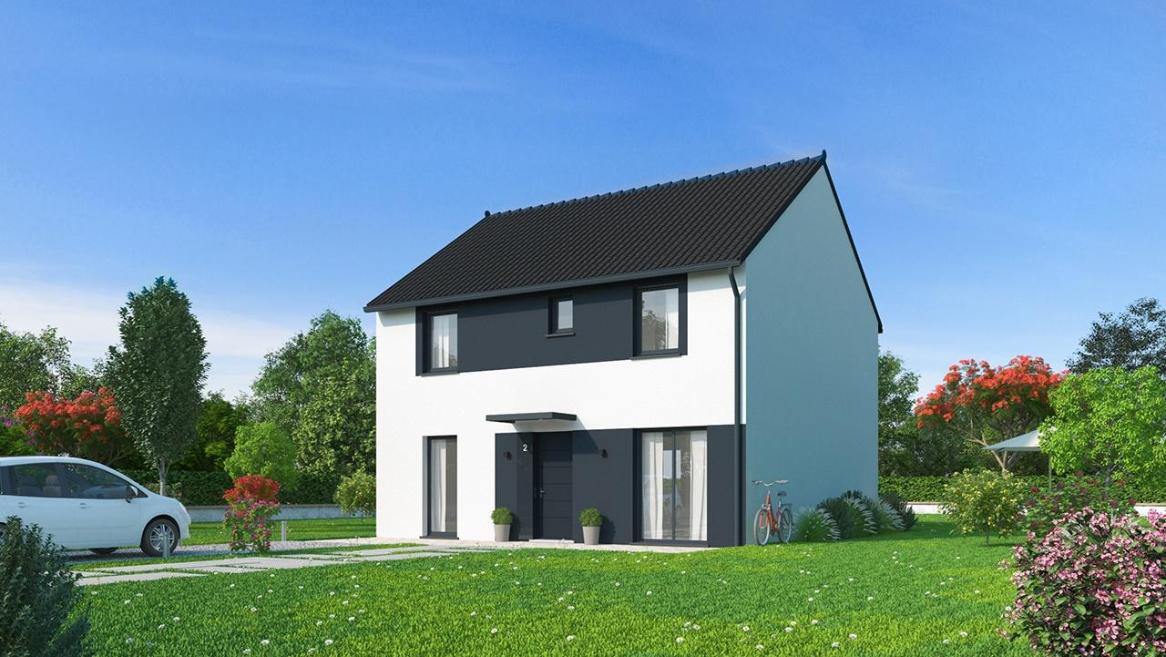 Maisons + Terrains du constructeur Maisons Phénix Nancy • 135 m² • FLAVIGNY SUR MOSELLE