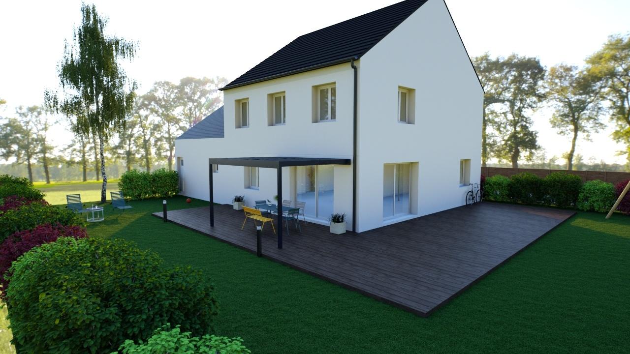 Maisons + Terrains du constructeur MAISON FAMILIALE • 111 m² • BOUXIERES AUX CHENES
