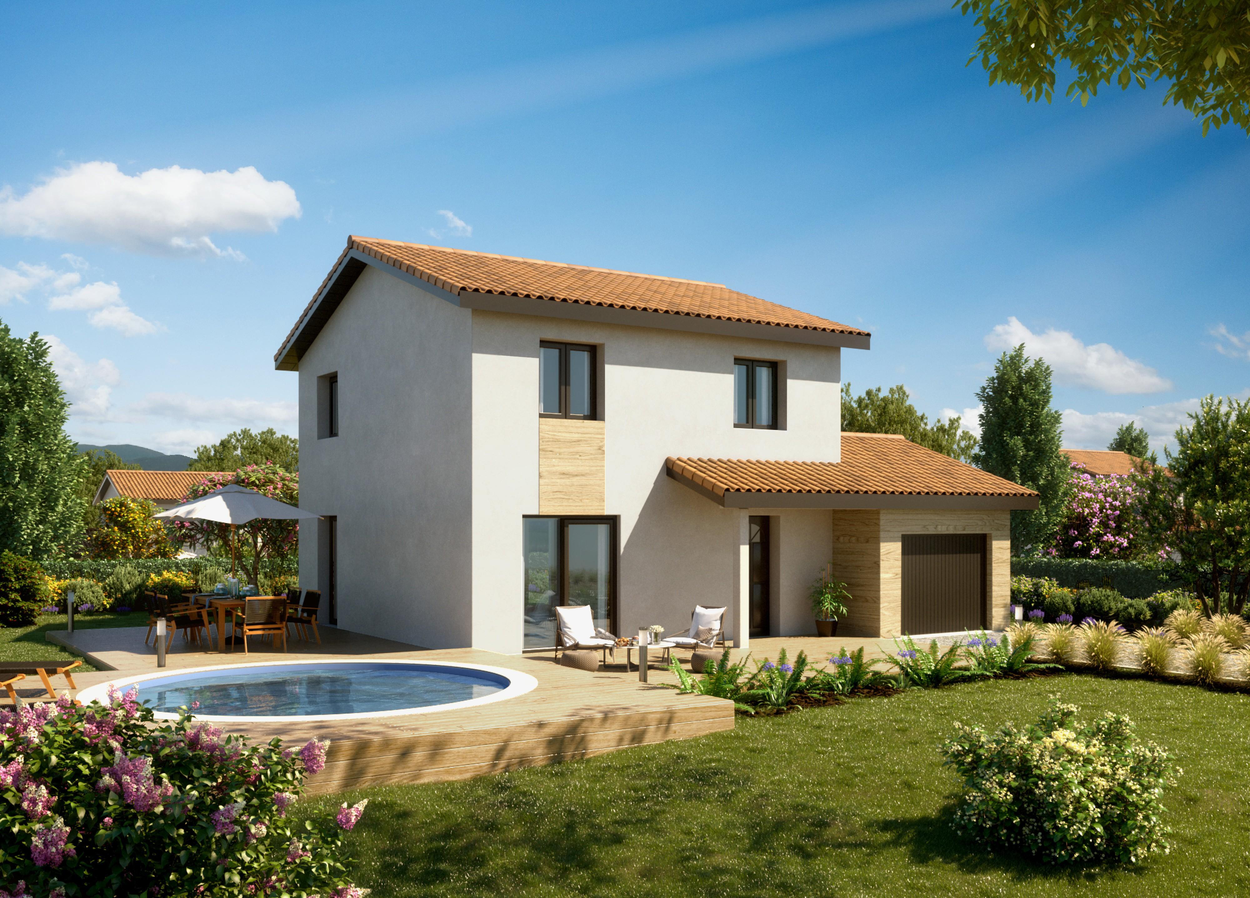 Maisons + Terrains du constructeur MAISONS PUNCH • 94 m² • VILLARS LES DOMBES