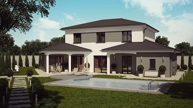 Maisons + Terrains du constructeur DEMEURES CALADOISES • 129 m² • SAINT PAUL DE VEZELIN