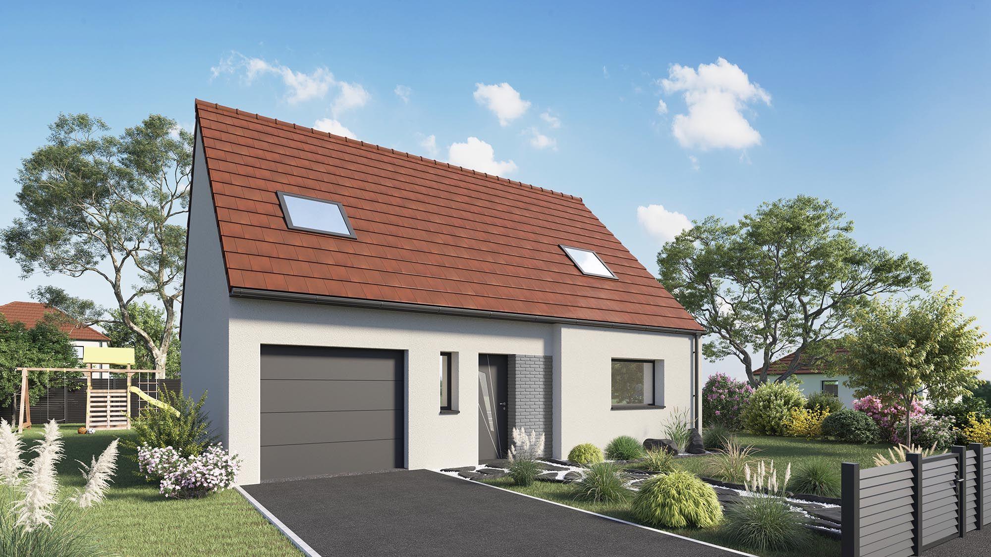 Maisons + Terrains du constructeur Maison Castor Lezennes • 113 m² • FAUMONT