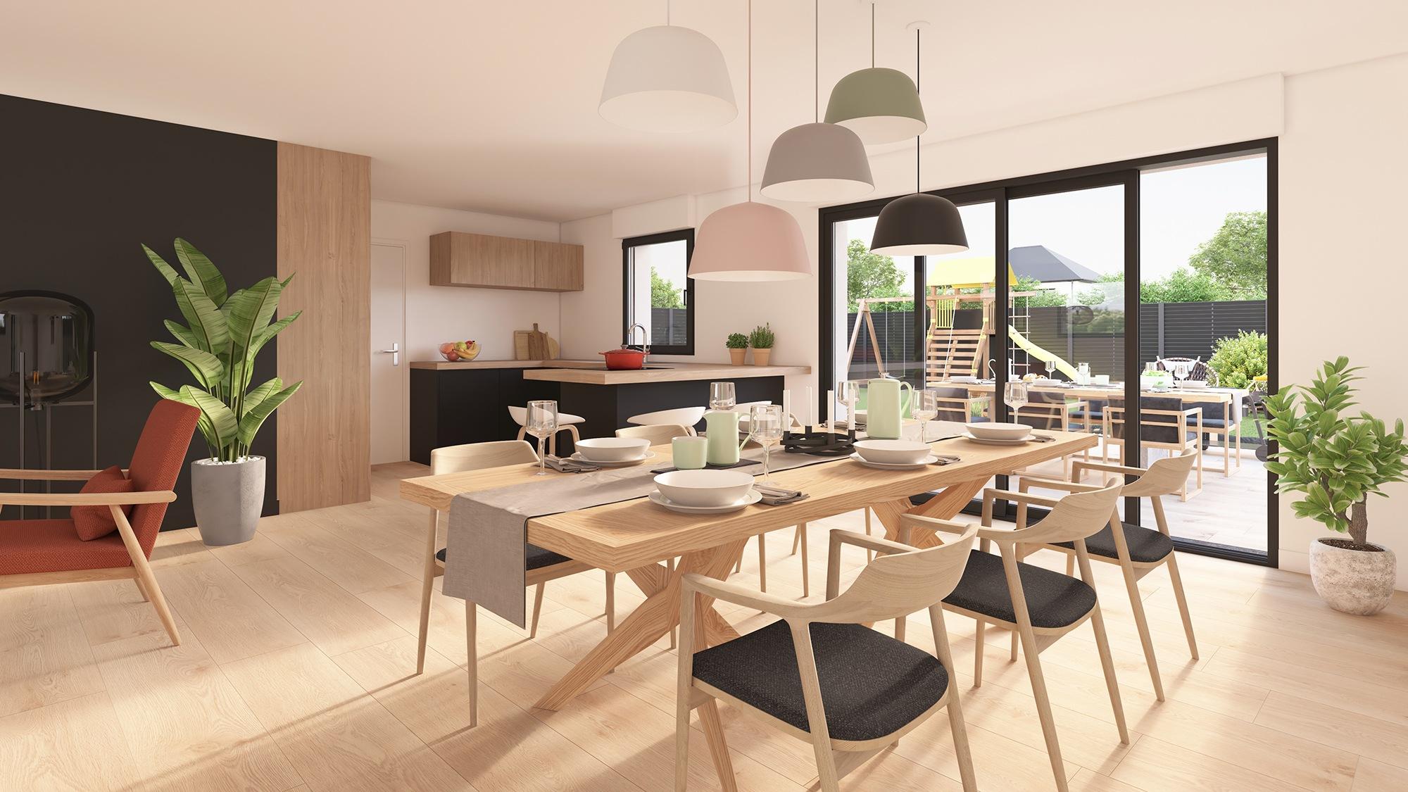 Maisons + Terrains du constructeur Maison Castor Lezennes • 96 m² • FAUMONT
