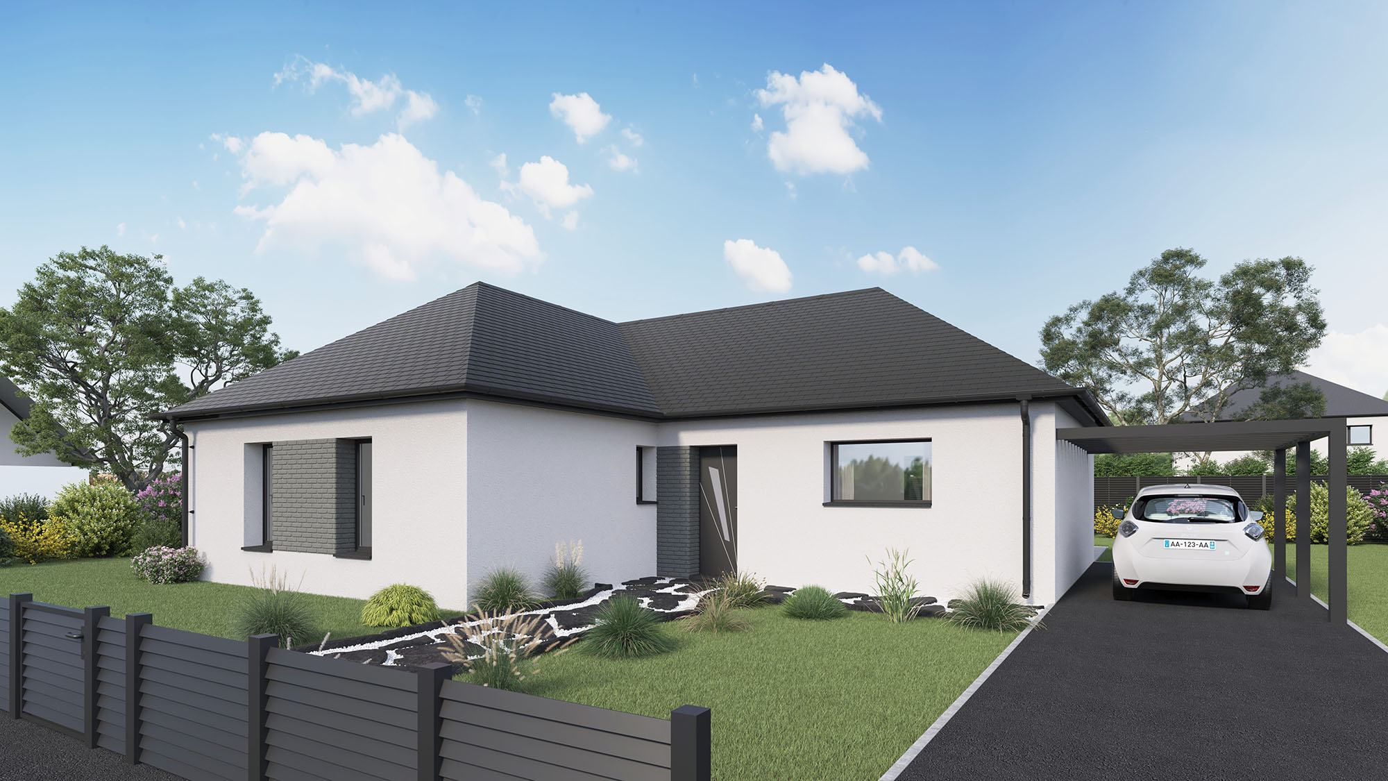 Maisons + Terrains du constructeur Maison Castor Lezennes • 100 m² • OSTRICOURT