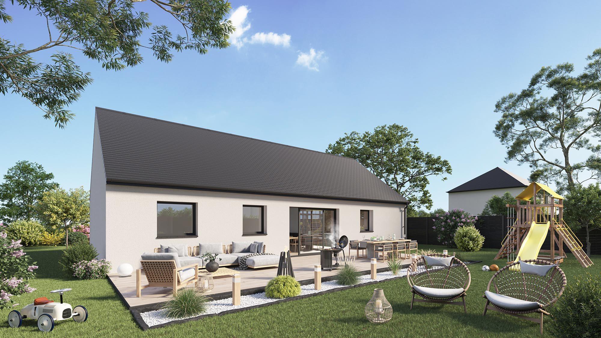 Maisons + Terrains du constructeur Maison Castor Lezennes • 98 m² • MERVILLE
