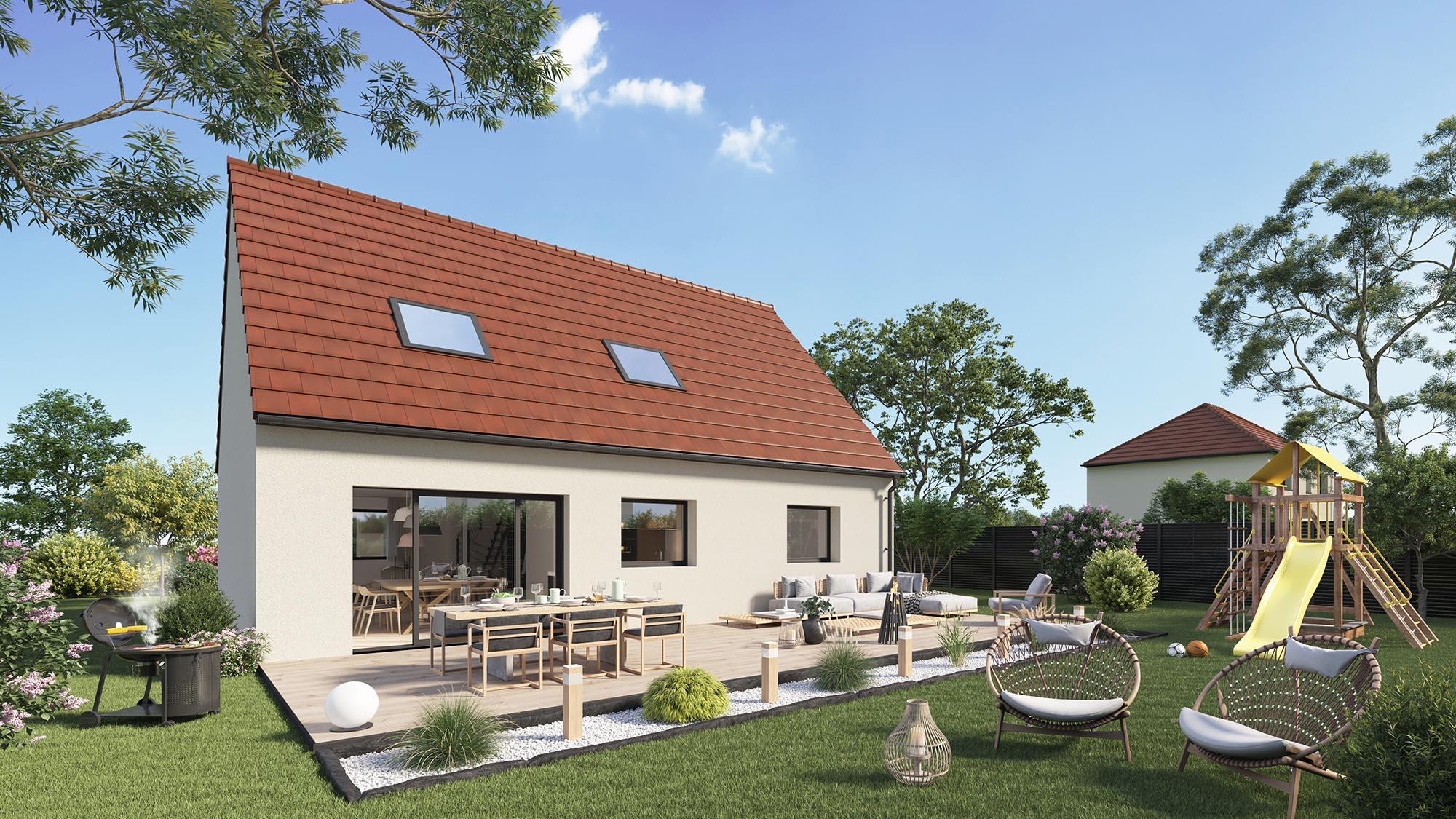 Maisons + Terrains du constructeur Maison Castor Lezennes • 105 m² • MERVILLE