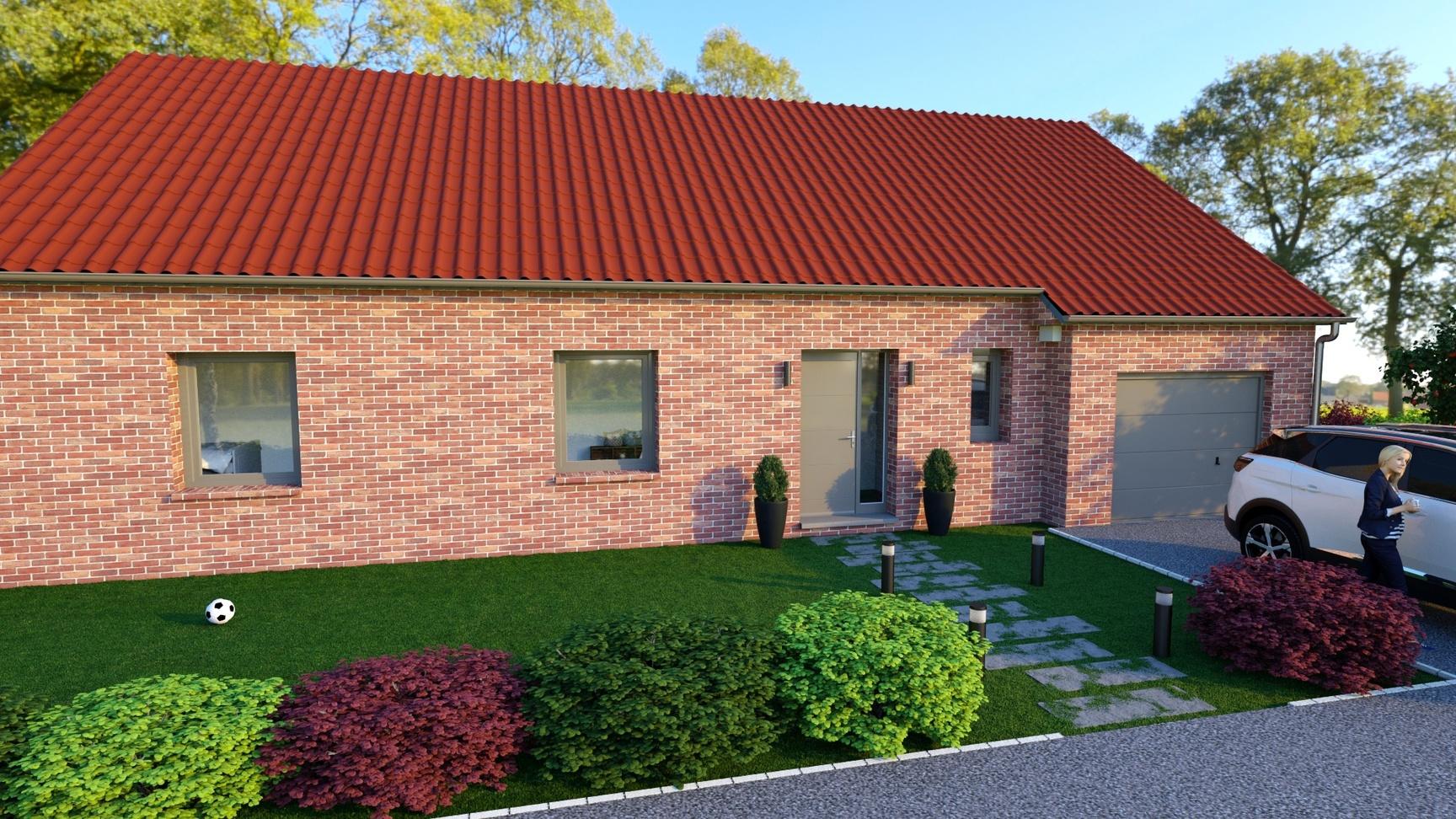 Maisons + Terrains du constructeur Maison Familiale-59121-PROUVY • 110 m² • LE QUESNOY