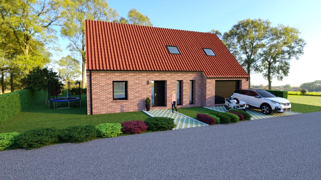 Maisons + Terrains du constructeur Maison Familiale-59121-PROUVY • 110 m² • VALENCIENNES