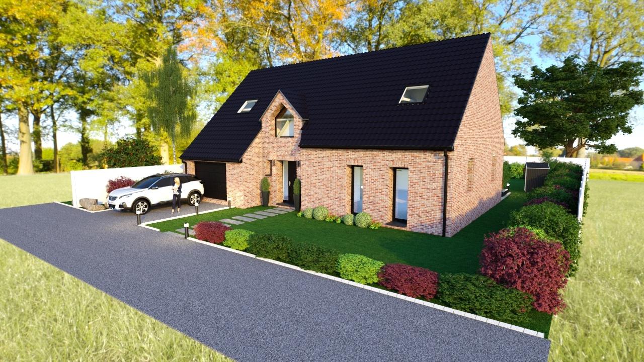 Maisons + Terrains du constructeur Maison Familiale-59121-PROUVY • 109 m² • ESCAUDAIN